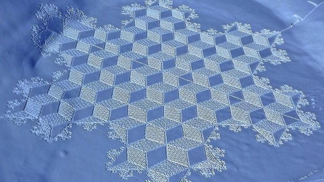 Snow Art: Much Cooler Than Crop Circles