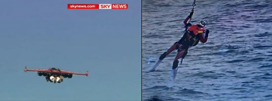 First Intercontinental Jetpack Flight Ends With a Wet Crash Landing