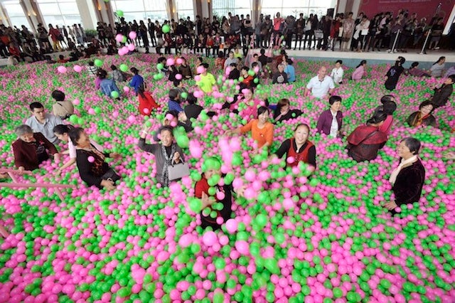 World's biggest ball pit is a sea filled with one million balls of fun