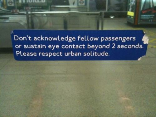 Fake London Underground signs