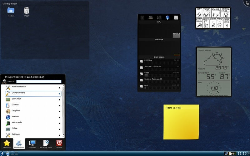 A Quick Look at Fedora 11 in Screenshots
