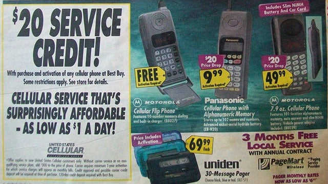 Cell Phone Technology In 1996 Was Stone Age, Brick-Shaped Ugly