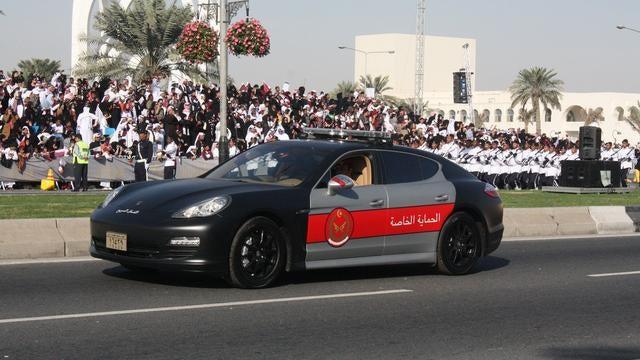 Qatari police have a gigantic fleet of Porsches