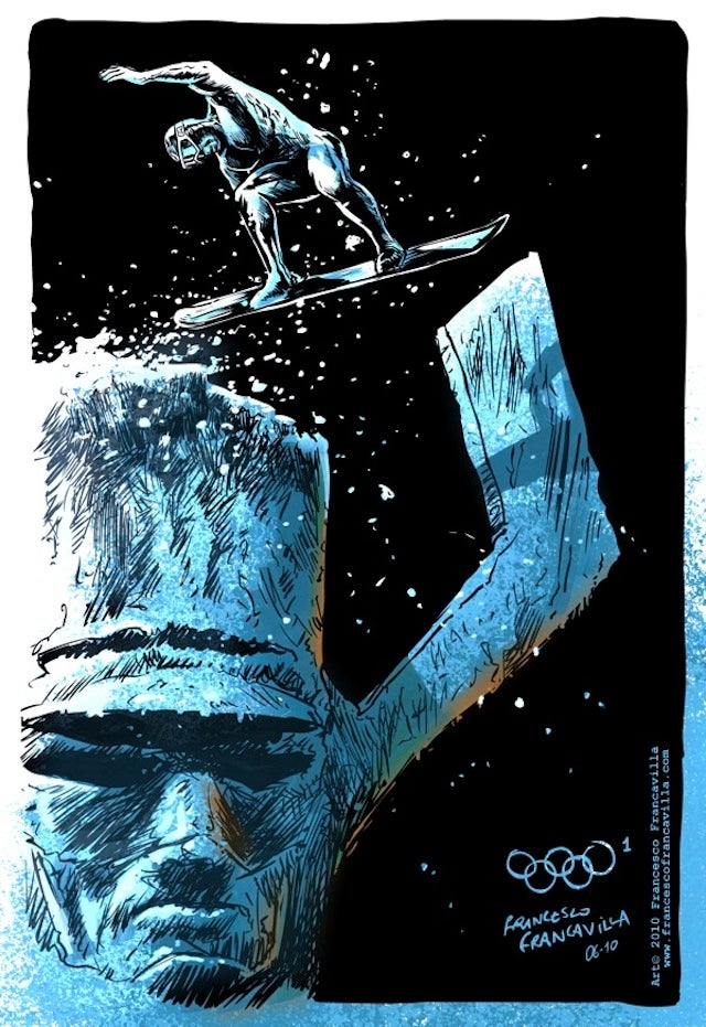 Iceman Should Really Be in These Superhero Winter Olympics Drawings