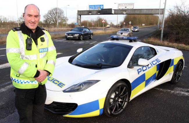 British Midlands police acquire new motorway patrol car McLaren MP4 12C