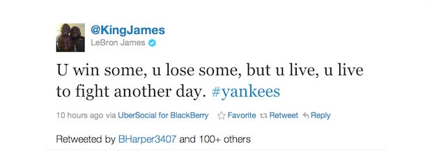 Bryce Harper Was Openly Rooting On The Yankees Last Night