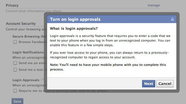 "Set Up ""Login Approvals"" in Facebook for Better Security"