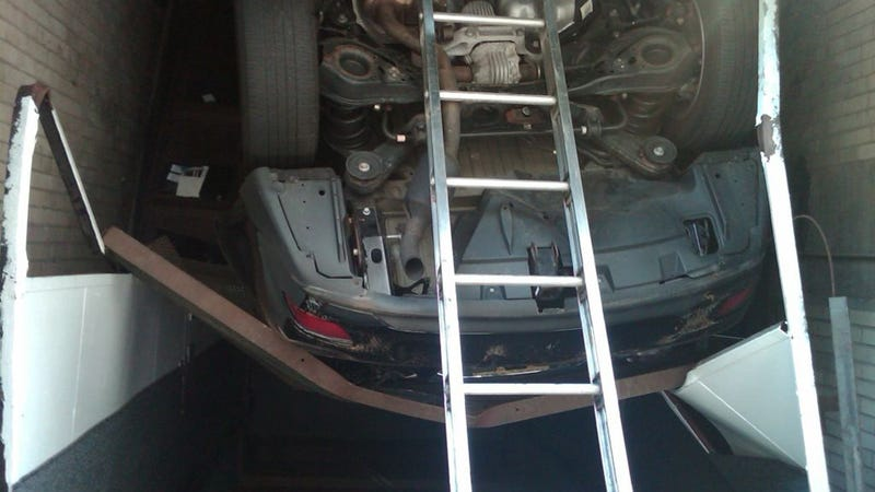 How The Hell Did This Car Fall Down An Elevator Shaft?