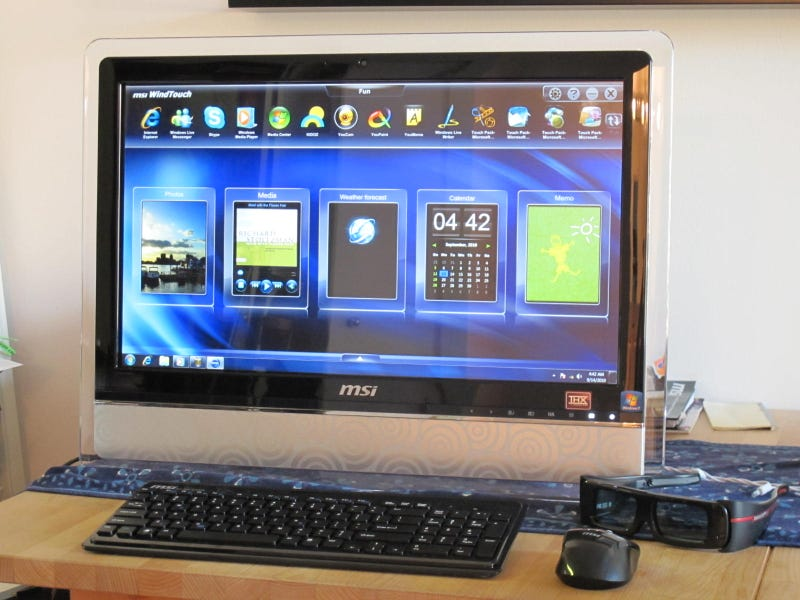 MSI AE2420 3D: First 3D Multitouch All-In-One PC First Impressions