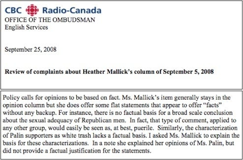 Canadian Media Ombudsman Defends 'Sexual Adequacy Of Republican Men'