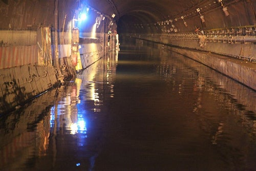 Here Are MTA Photos of Flooded Subway Tunnels Under the East River