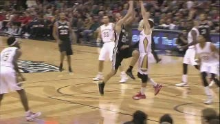 Anthony Davis Volleyball Spikes Manu Ginobili's Shot Straight To Hell