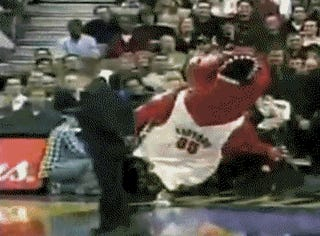 Raptors' Mascot Tears Achilles, Is Out For Season