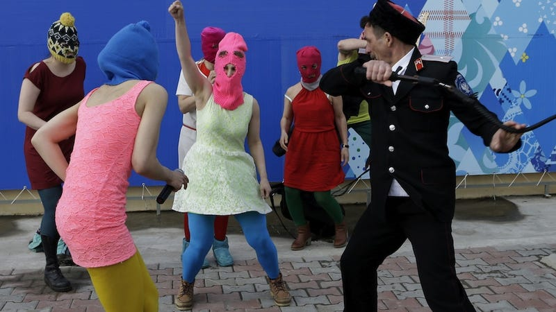 Pussy Riot Attacked in Sochi by Cossacks With Whips