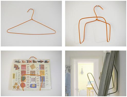 DIY Wire Hanger Book or Magazine Rack