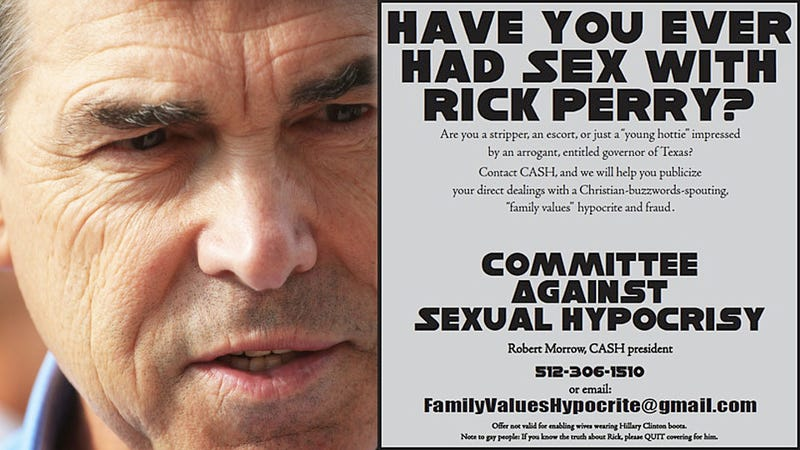 'Have You Had Sex with Rick Perry?' Asks Ad
