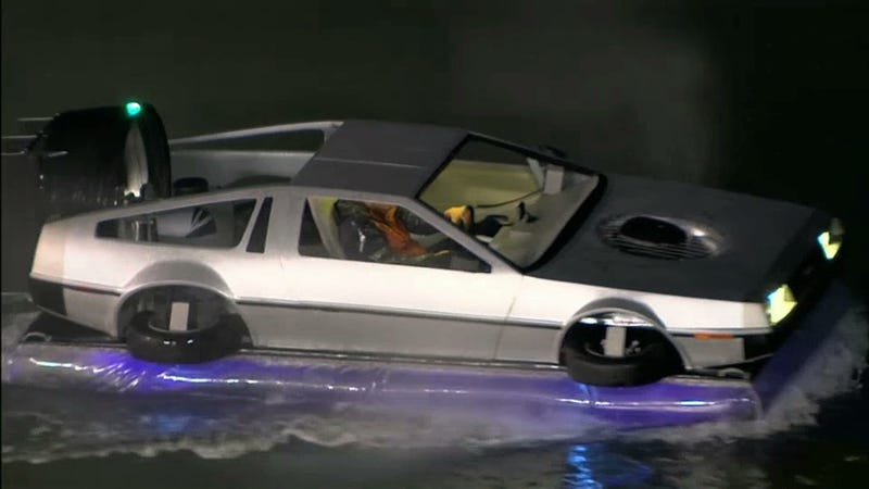 A DeLorean Hovercraft Appeared At Last Night's Giants-Rockies Game