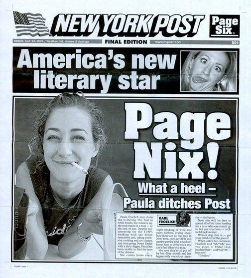 Paula Froelich Gets the New York Post Sendoff Treatment