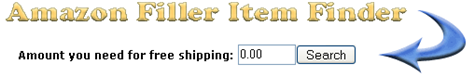 Get free shipping with the Amazon Filler Item Finder
