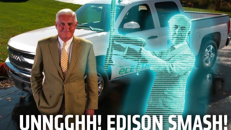 Hologram Thomas Edison To Chat With Bob Lutz About Electric Trucks And Possibly Try And Kill Him