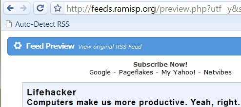 RamISP Grabs RSS Feeds for Google Chrome Users