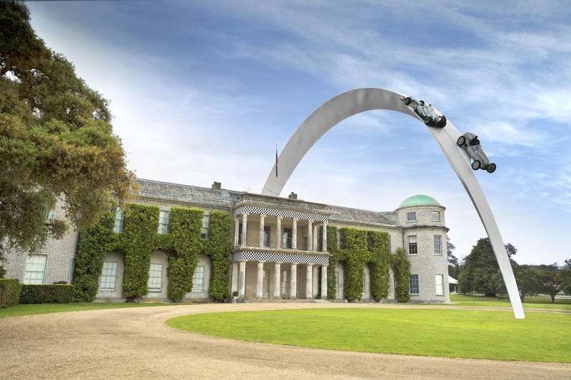 Look At This Amazing 300 Foot Mercedes Sculpture At Goodwood
