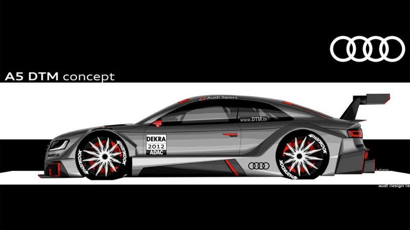 Audi's DTM concept is not amused by evil BMWs