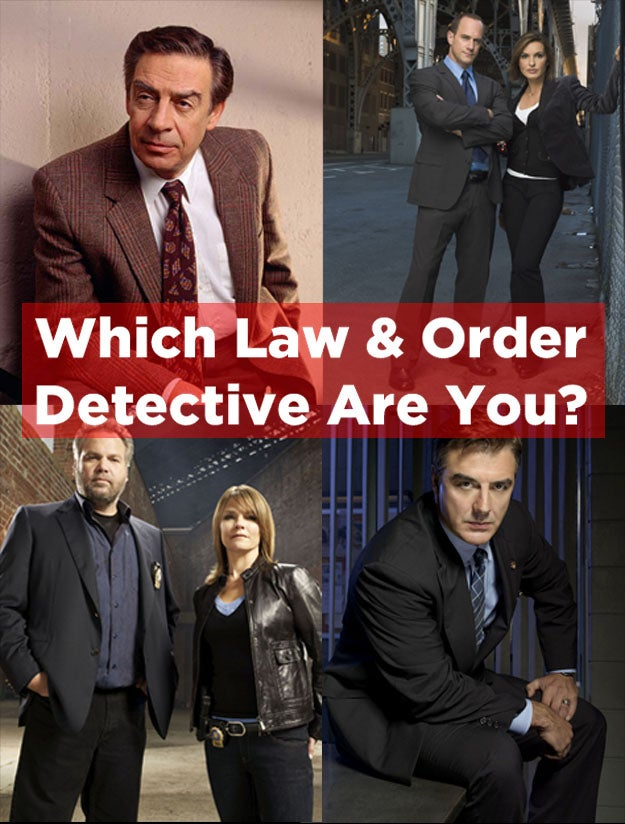 "Which ""Law and Order"" Detective are You?"