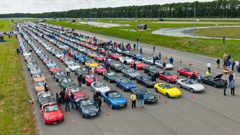 That's A Lot Of Mazda Miatas
