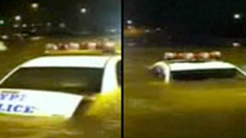 Watch Hurricane Sandy's Floods Destroy These NYPD Police Cars (And 192 Others)