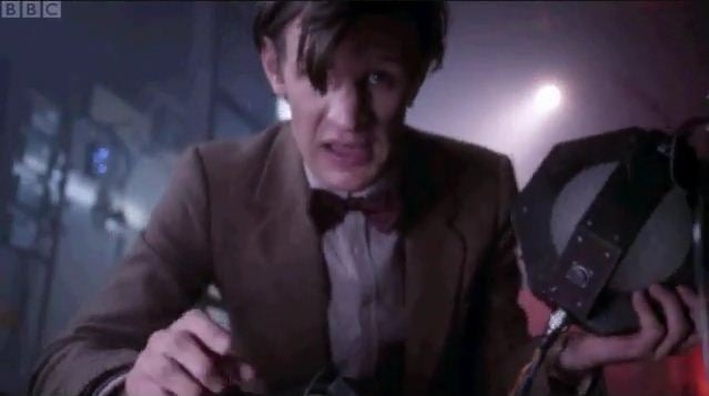 "Your new Doctor Who catchphrase: ""Wibbly wobbly explodey wodey."""