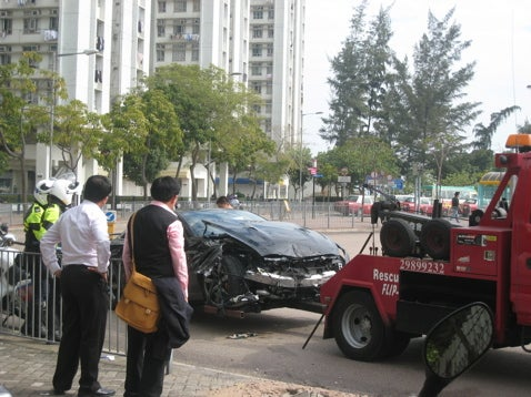 Godzilla Smash! The First Nissan GT-R Crash