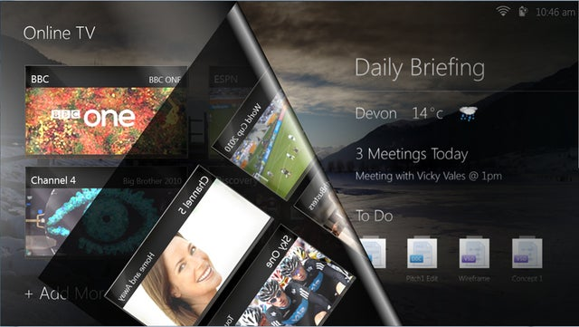 UI Firm Demos Page-Turning Windows 7 Tablet Interface