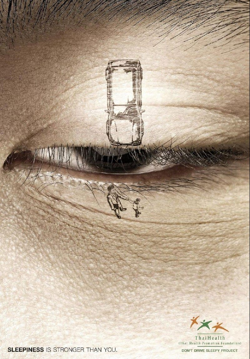 This Is Drowsy Driving Illustrated In One Amazing Tattoo