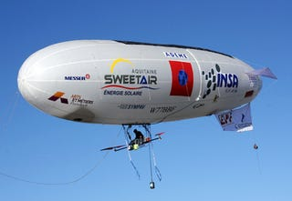 Solar-powered blimp crosses the English Channel