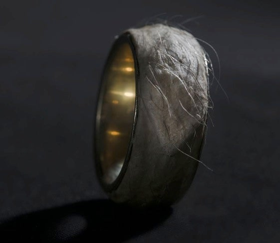 Designer makes a leather ring from his own flesh