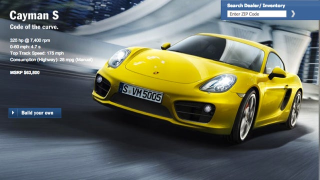 Who Can Configure The Best 2013 Porsche Cayman?