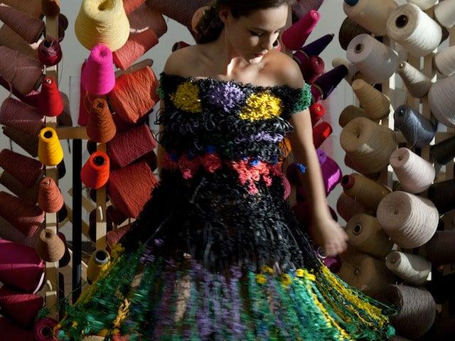 Artist Creates Dress Using 14,235 Rubber Bands