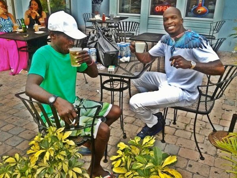 Chad Johnson May Have Spent Saturday Partying With A Homeless Guy