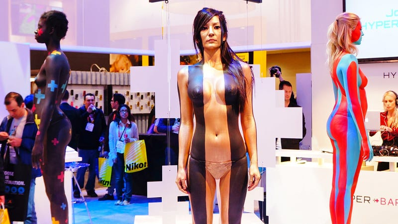 These Naked Women Were Selling Phones or Something at CES