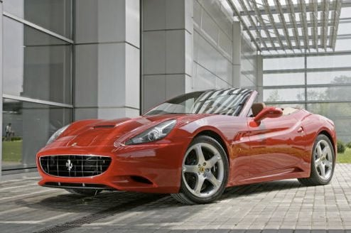 The 2009 Ferrari California Goes Outside To Get Some Sun