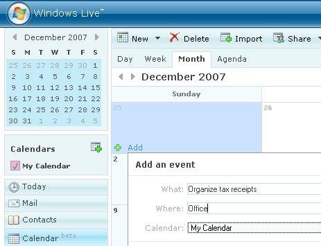 Windows Live Calendar Launched in Public Beta