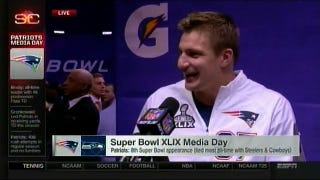 Rob Gronkowski Reads Gronk Erotica Out Loud At Super Bowl Media Day