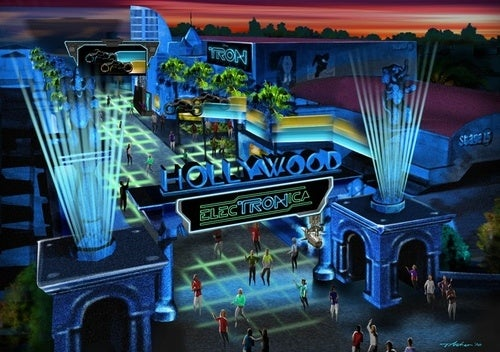 Concept art for Disney new Tron theme park, ElecTRONica