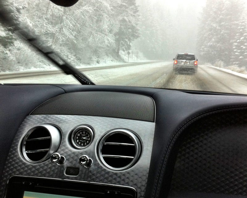 Funny Story. I'm In A Bentley In A Snowstorm