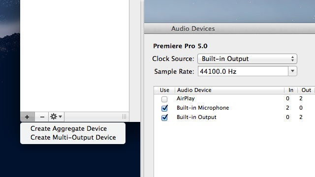 How to Aggregate and Use Multiple Audio Inputs and Outputs in OS X