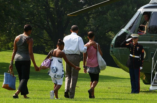 Obama Family Does The Vacation March