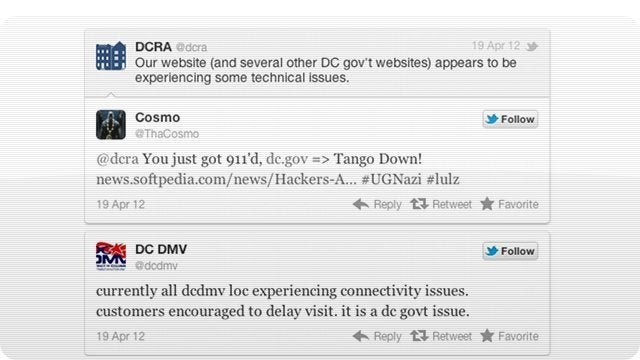 Clueless Hackers Took Down DC Government Sites Thinking They Were Attacking the Feds