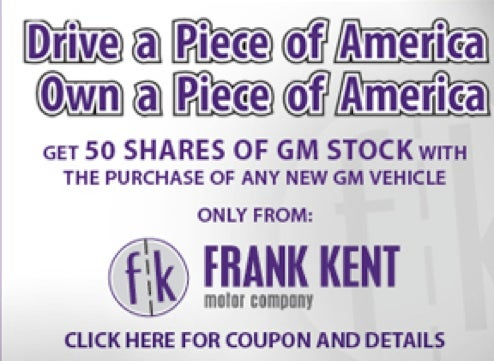Texas Dealers: Buy A GM Vehicle, Get 50 Shares Of GM Stock!