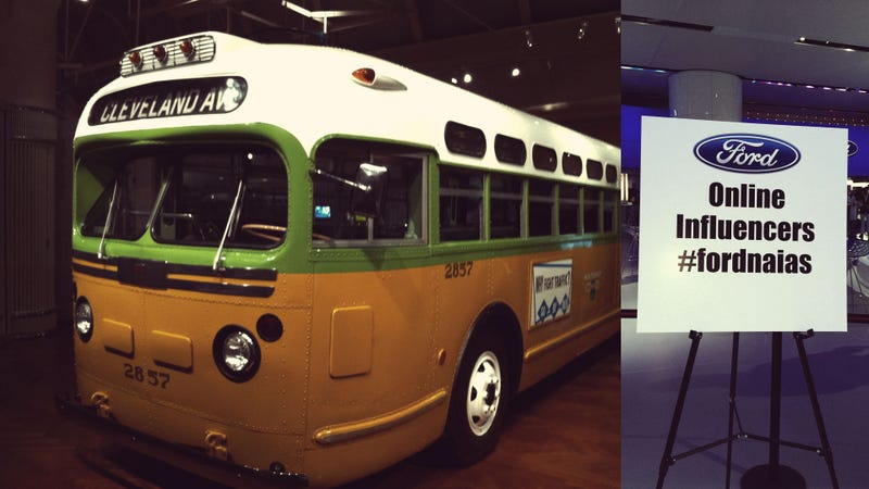 Eating Sushi In Rosa Parks' Bus: Ford's Detroit Auto Show 'Fantasy Camp' For Mommy Bloggers and Influencers